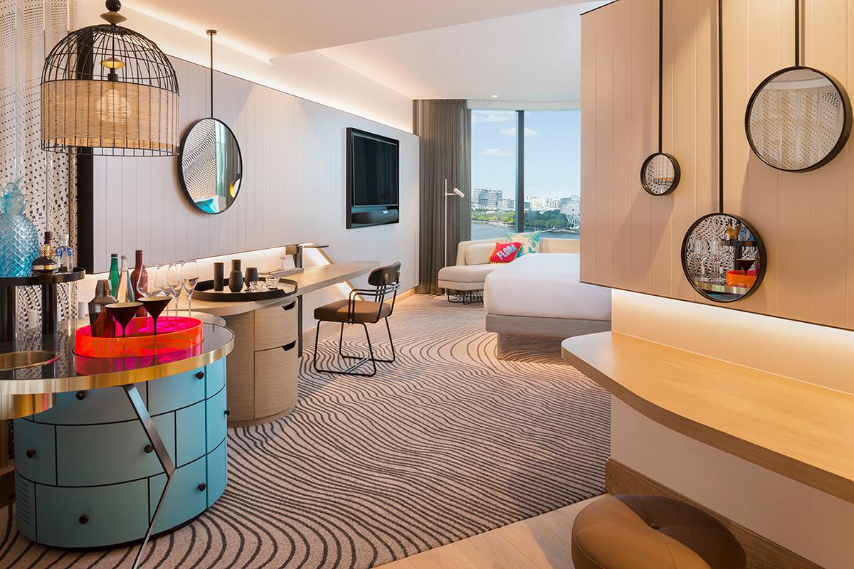 W Hotel Bedroom Cool Corner