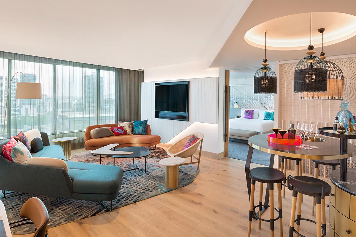 W Hotel Marvellous Suite Living Room